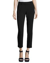 Laundry By Shelli Segal Mixed Media Slim Ankle Pants Black
