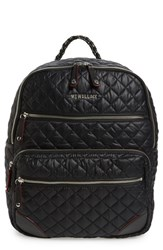 M Z Wallace Mz Crosby Quilted Oxford Nylon Backpack Black