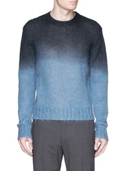 Marni Ombre Mohair Wool Sweater Blue