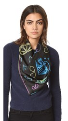 Marc Jacobs Neon Lights Scarf Black Multi