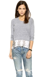 Monrow Layer Crop Tee Granite