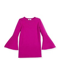 Milly Minis Bell Sleeve Shift Dress Amethyst