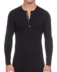 2Xist 2 X Ist Tartan Tech Long Sleeve Henley Tee Black