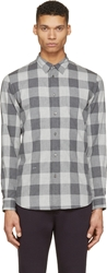 Robert Geller Grey Check Shirt