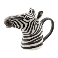Quail Ceramics Ceramic Zebra Jug Black And White