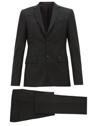 Givenchy Single Breasted Wool Blend Suit Black