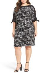 Gabby Skye Plus Size Women's Polka Dot Shift Dress