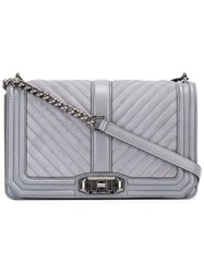 Rebecca Minkoff Quilted Crossbody Bag Grey