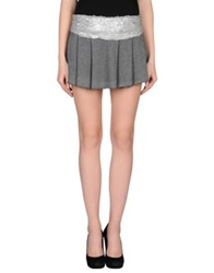 Lo Not Equal Mini Skirts Grey