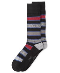 Alfani Men's Pop Stripe Socks Only At Macy's Red Grey
