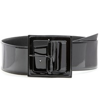 Saint Laurent Patent Leather Belt Black