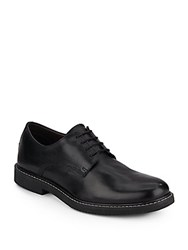 Saks Fifth Avenue Leather Contrast Stitched Oxfords Black