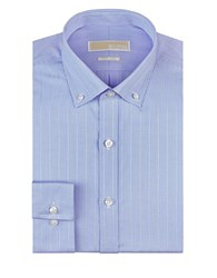 Michael Michael Kors Regular Fit Micro Check Dress Shirt Sky Blue