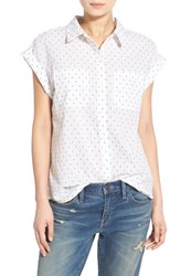 Women's Hinge Jacquard Short Sleeve Blouse