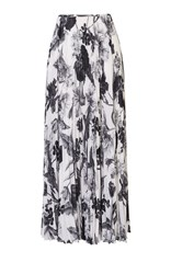 Karen Millen Floral Print Maxi Skirt Black And White
