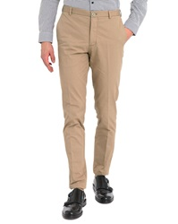 Carven Beige Cotton Slim Cut Chino Trousers