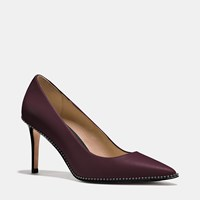 Coach Smith Beadchain Heel Warm Oxblood Black
