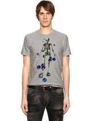 Etro Skeleton Tufted Cotton Jersey T Shirt