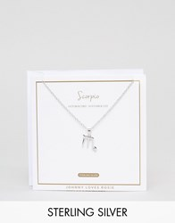 Johnny Loves Rosie Sterling Silver Zodiac Scorpio Necklace Silver