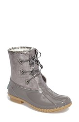 Jack Rogers Women's 'Chloe' Rain Boot Dove Metallic Leather Rubber