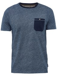 Ted Baker Motor Mouline Cotton Crew Neck T Shirt Navy