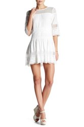 Endless Rose Lacy Tiered Fit And Flare Dress White