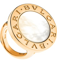 Bulgari Bvlgari Bvlgari 18Ct Pink Gold And Mother Of Pearl Ring