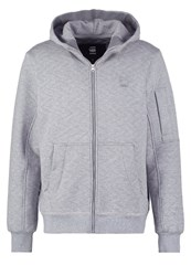 G Star Gstar Batt Hooded Zip Sw L S Tracksuit Top Grey Heather Mottled Grey