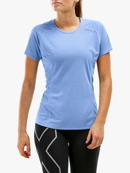 2Xu Xvent Short Sleeve Running Top Vista Blue Reflective X