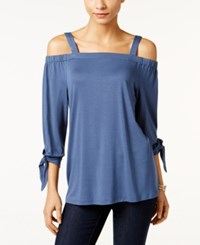 Styleandco. Style Co. Off The Shoulder Top Only At Macy's New Unifrm Blue
