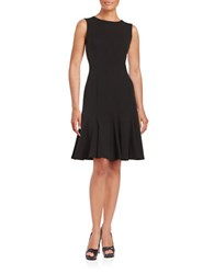 Calvin Klein Seamed Fit And Flare Dress Black