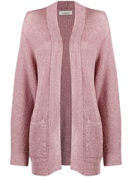 Laneus Metallic Knit Cardigan Pink