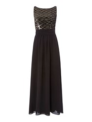 Therapy Sequin Front Maxi Dress Black