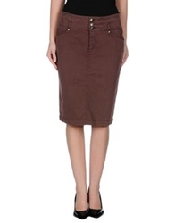 Ajay Knee Length Skirts Cocoa