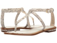Isola Mackenzie White Tan Tribal Print Women's Flat Shoes