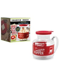 Sharper Image Glass Popcorn Kit 2.25 Qt. No Color