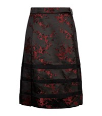 Marc Jacobs Cherry Blossom Jacquard Pleated Skirt Female Red