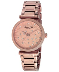 Kenneth Cole New York Women's Rose Gold Ion Plated Stainless Steel Bracelet Watch 35Mm Kc0019
