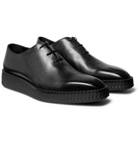 Berluti Alessandro Exaggerated Sole Leather Oxford Shoes Black