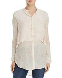 Xcvi Zoey Layered Tunic Blouse Roller Print