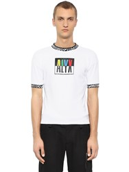 Alyx Color Block Logo Print Jersey T Shirt White
