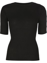 Alexander Wang Snap Placket Top Black