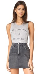 Spiritual Gangster The Universe Is On My Side Muscle Tank Heather Grey