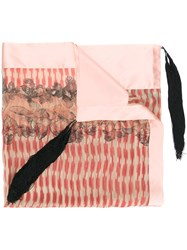 Forte Forte Tassel Detail Scarf Pink And Purple