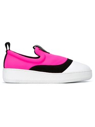 Mcq By Alexander Mcqueen 'Netil' Slip On Sneakers Pink And Purple