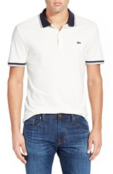 Men's Lacoste 'Fancy' Tipped Stretch Pique Polo Green