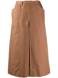 Christophe Lemaire Wide Leg Trousers Brown