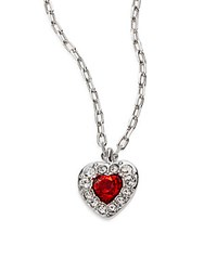 Swarovski Treasure Heart Crystal Pendant Necklace Silver