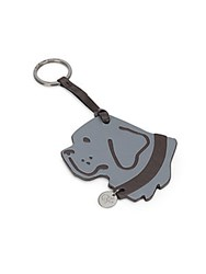 Proenza Schouler Buster Leather Keychain Ring Grey Black