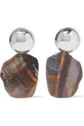 Sophie Buhai Barbara Silver Agate Earrings One Size